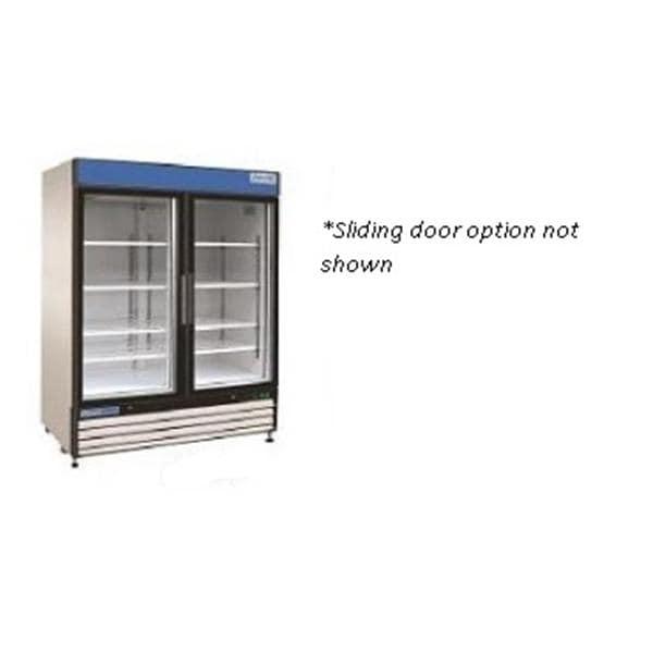 refrigerator general purpose 48cuft lock sliding glass door ea