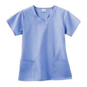 14038048530 Fundamentals Scrub Shirt Womens Medium Ceil Blue Ea ...